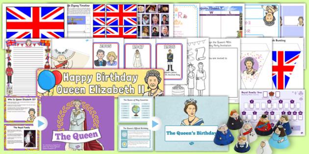 Queen Elizabeth's Birthday Resource Pack - queen elizabeth's 90th birthday, resource pack, pack
