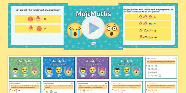 LKS2 MojiMaths Resource Pack - Mathemoji, Solvemoji, Emoticon