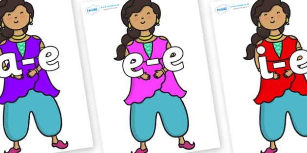 Modifying E Letters on Princess - Modifying E, letters, modify, Phase 5, Phase five, alternative spellings for phonemes, DfES letters and Sounds