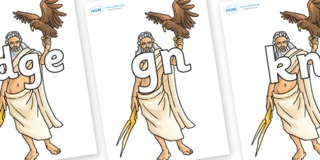 Silent Letters on Zeus - Silent Letters, silent letter, letter blend, consonant, consonants, digraph, trigraph, A-Z letters, literacy, alphabet, letters, alternative sounds