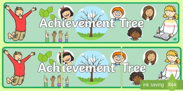 Achievement Tree Display Banner - achievement, tree, banner