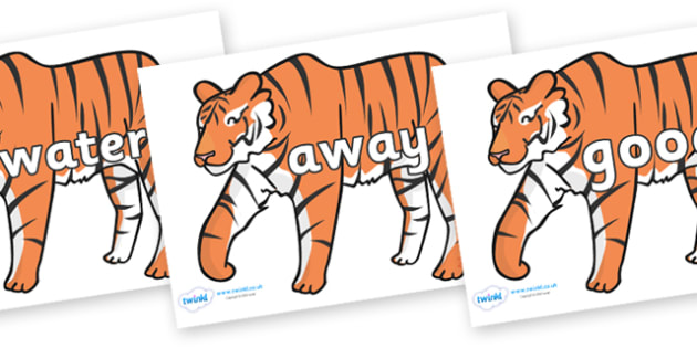 Next 200 Common Words on Tigers - Next 200 Common Words on  - DfES Letters and Sounds, Letters and Sounds, Letters and sounds words, Common words, 200 common words