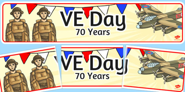 VE Day 70 Years Display Banner - ve day, 70 years, world war 2
