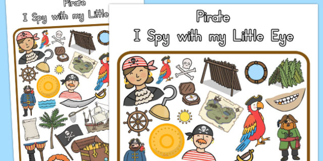 Pirate Themed I Spy With My Little Eye Activity - australia, eye