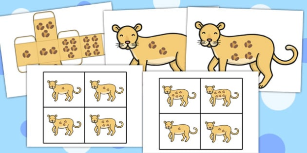 Leopard Spots Lotto Game - leopard, spots, lotto, game, activity