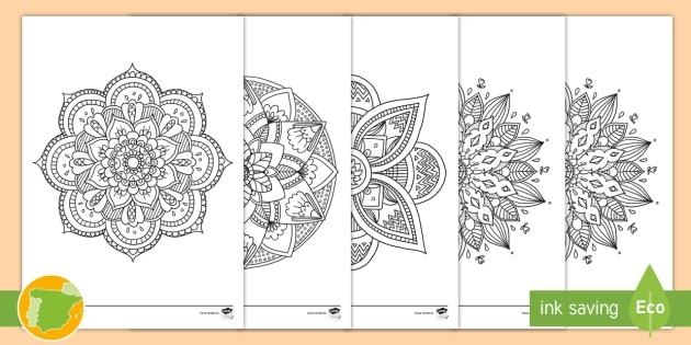 NEW * Hojas de colorear: Mandalas - colorear, mindfulness