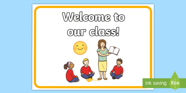 Welcome to Our Class Display Poster - welcome, class, display, poster