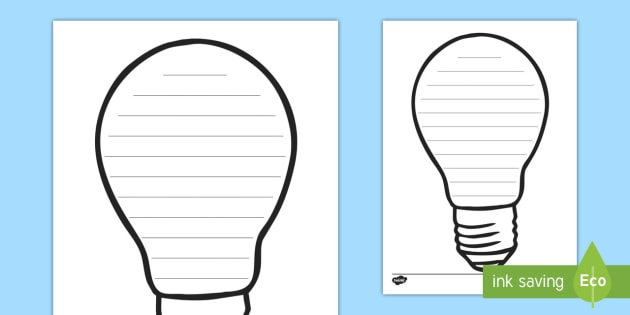 photo regarding Light Bulb Printable referred to as Totally free! - Lightbulb Crafting Body - lightbulb, light-weight, dim