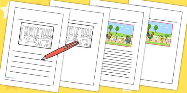 Chicken Licken Story Writing Frames - stories, story books, write