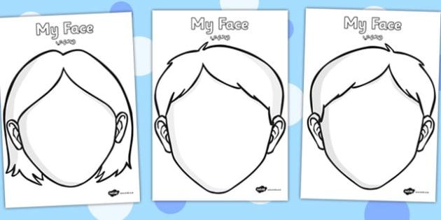 Blank Faces Templates Arabic Translation - arabic, blank faces, template
