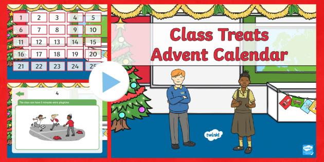 Class Treat Advent Calendar PowerPoint - advent, Christmas, Xmas, Advent, calendar, treat, surprise, reward, special, count down,