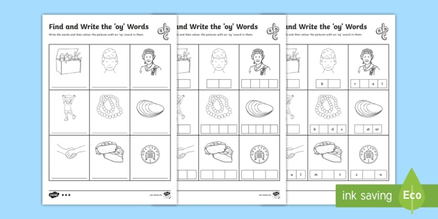 Find and write the oy words differentiated worksheet activity find and write the oy words differentiated worksheet activity sheets phonics activity phase ibookread ePUb