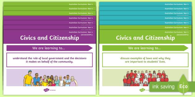 Year 4 Australian Hass Civics And Citizenship Content