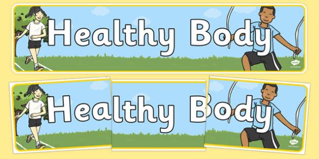 Healthy Body Display Banner - healthy body, display banner, display, banner, healthy, body