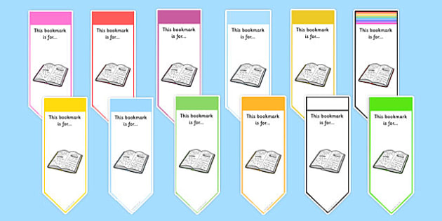 Editable Reading Book Band Bookmarks - reading, book, band, bookmarks, editable