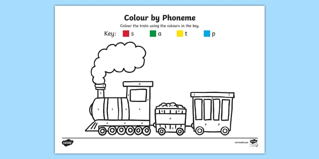 Colour by Phoneme Train Phase 2 s a t p - colour, phonemes, train, phase 2, satpin