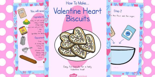 Valentine Biscuits Recipe Cards - australia, valentine, biscuit
