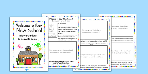 New Starter 'Welcome to Your New School' Booklet French Translation - EAL, translated, bilingual, first day