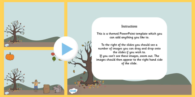 Autumn Editable PowerPoint Background Template - autumn, seasons, editable powerpoint, powerpoint, background template, themed powerpoint, editable