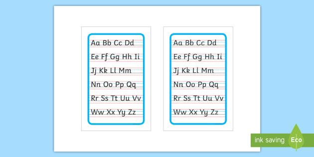 Cursive Alphabet Letter Formation Poster Upper and Lower ...