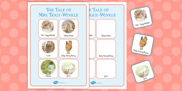 The Tale of Mrs Tiggy Winkle Vocabulary Poster - mrs tiggy winkle
