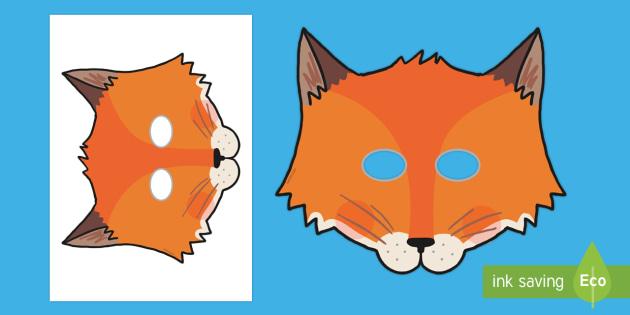 Fantastic Fox Role Play Masks - fantastic, fox, roald dahl, book