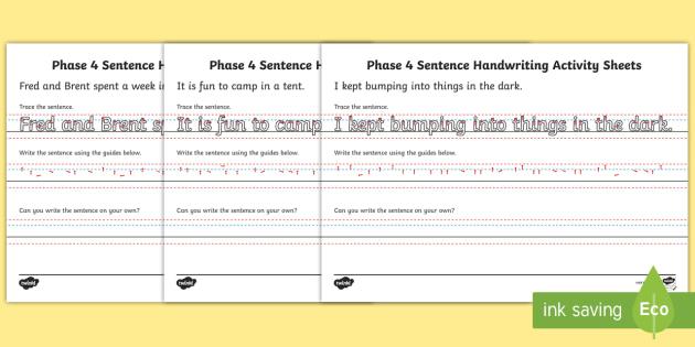 phase 4 sentence handwriting worksheet worksheets australia phase 4. Black Bedroom Furniture Sets. Home Design Ideas