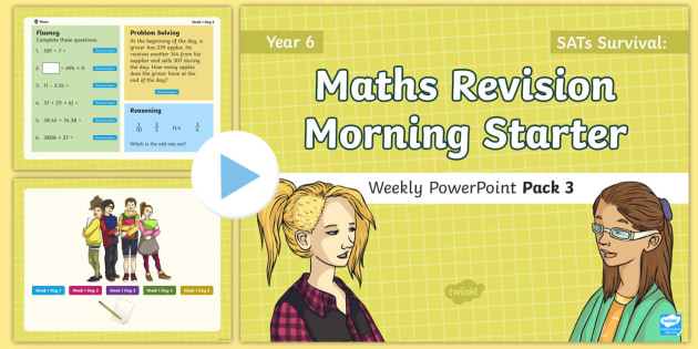SATs Survival: Year 6 Maths Revision Morning Starter Weekly