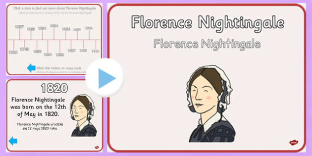 Florence Nightingale Timeline PowerPoint Polish Translation - polish, florence nightingale, timeline