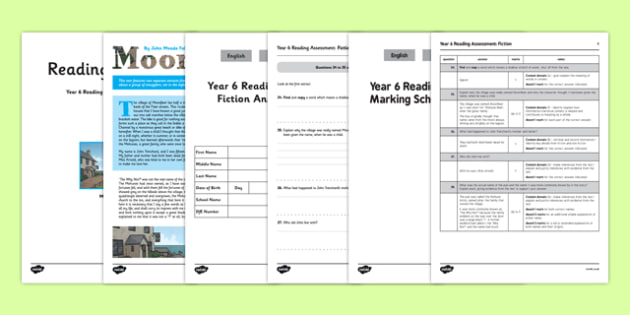 Year 6 Reading Assessment Fiction Term 2 - year 6, reading, assessment, term 2, fiction