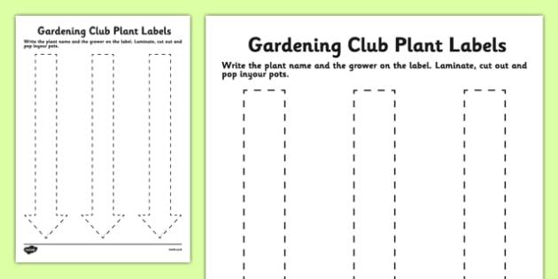 Elderly Care Gardening Plant Labels - Elderly, Reminiscence, Care Homes, Gardening Club