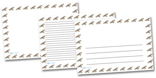 Buzzard Landscape Page Borders- Landscape Page Borders - Page border, border, writing template, writing aid, writing frame, a4 border, template, templates, landscape
