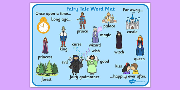 Fairy Tale Word Mat - fairy tale, word mat, mat, words, tale