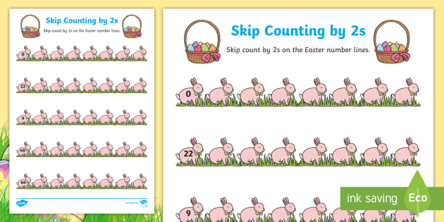 Easter Skip Counting By 2s Worksheet Activity Sheet