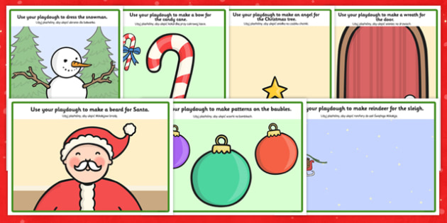 Christmas Playdough Mats Polish Translation - foreign language, making, speaking and listening, reading, festive, activity, independent, early years, ks1, key stage 1