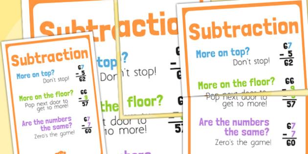 T-N-1817-Subtraction-Poem-Poster Take Away Sign Maths on that say, symbols worksheet, symbols equal,