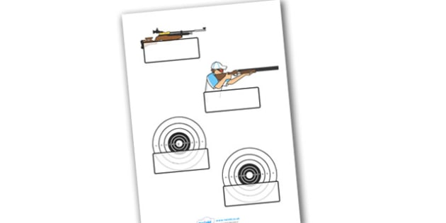 The Olympics Shooting Self-Registration - Shooting, Olympics, Olympic Games, sports, Olympic, London, 2012, Self registration, register, editable, labels, registration, child name label, printable labels, activity, Olympic torch, events, flag, countr