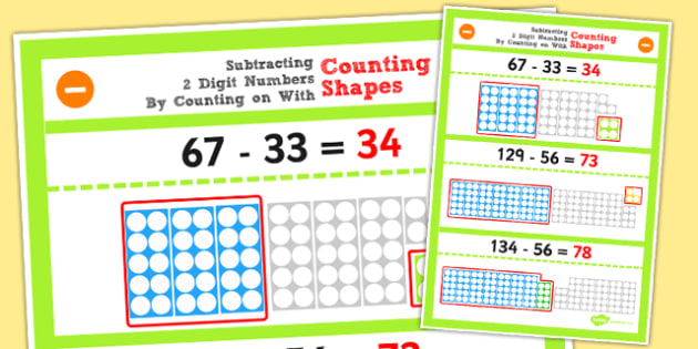 Year 2 Subtracting 2 2 Digit Numbers and Ten by Counting on Using