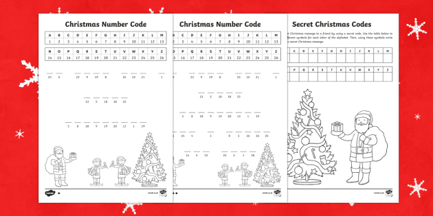 graphic about Printable Code Cracker Puzzles referred to as Xmas code puzzles Game Pack