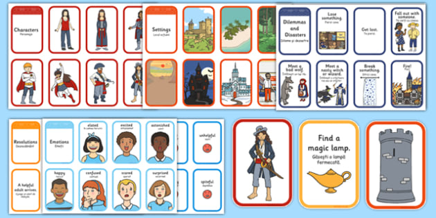 Story Writing Prompt Cards Pack Romanian Translation - romanian, story writing, prompts, activity, pack, creative writing, story planning, plot planner, plot, cards, ks1, ks2, adventure, stories, fiction, narrative, storytelling, oral, sequence, plan