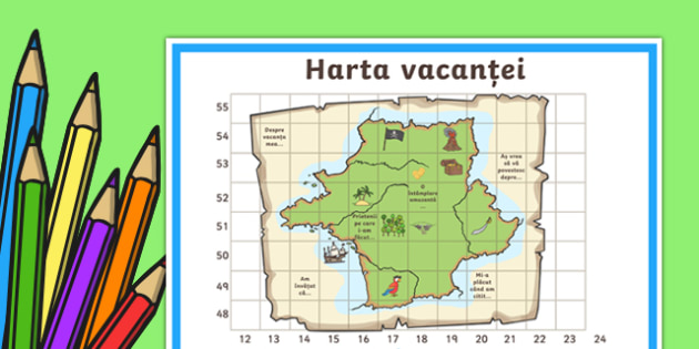 Harta vacanței - Planșă interactivă - inceput de an scolar, vacanta, septembrie, toamna, prima zi de scoala, scoala, activitati, materiale romana