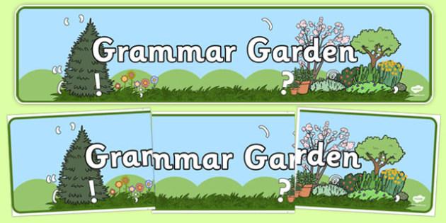 Grammar Garden Display Banner - grammar garden, grammar, garden, display banner