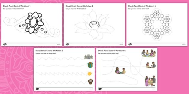 Diwali Pencil Control Sheets - diwali, pencil control, sheets, pencil, control