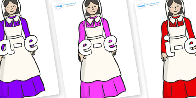 Modifying E Letters on Florence Nightingale - Modifying E, letters, modify, Phase 5, Phase five, alternative spellings for phonemes, DfES letters and Sounds