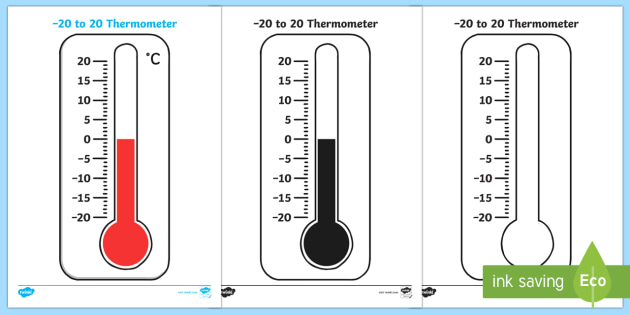 New Minus 20 To 20 Thermometer Worksheet Minus 20 To
