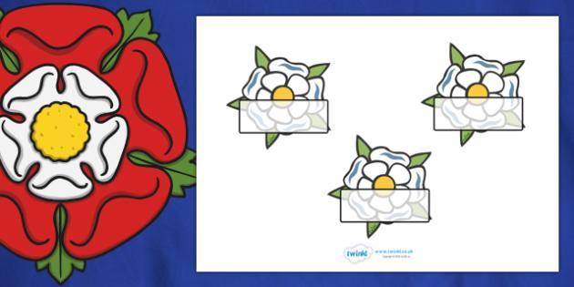 Editable Self-Registration Labels (The Tudors Yorkshire Rose) -  Self registration, register, editable, labels, registration, child name label, printable labels, The Tudors, Yorkshire Rose, tudors
