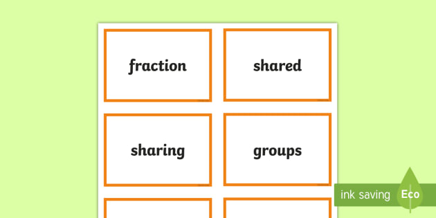 CfE Second Level Numeracy and Mathematics Fractions, Decimal Fractions and Percentages Keyword Flashcards - Wall Display, keywords, MNU 2-07a, MNU 2-07b, MNU 2-07c, language of maths, vocabulary, word wall,Sc