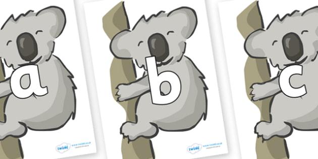 Phoneme Set on Koalas - Phoneme set, phonemes, phoneme, Letters and Sounds, DfES, display, Phase 1, Phase 2, Phase 3, Phase 5, Foundation, Literacy