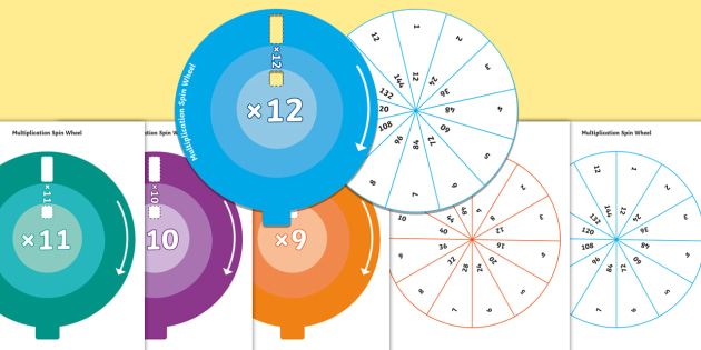 Groovy Multiplication Spin Wheel Pack 2 To 12 Times Tables Multiply Wiring Database Redaterrageneticorg
