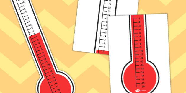 Thermometer Vertical Number Line - thermometer, vertical, number line